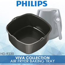 Philips BAKING TRAY HD9925 / Air Fryer Baking Tray / Black