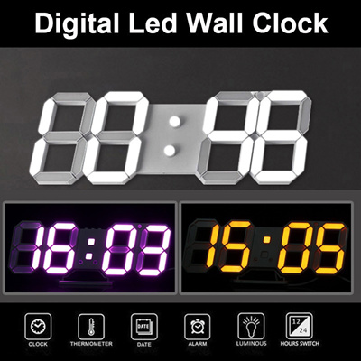 Qoo10 Abs Large Modern Digital Led Skeleton Wall Clock