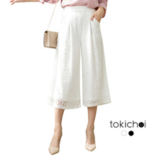 TOKICHOI - Laced Overlay Culottes-180306