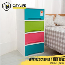Citylife Spacious Cabinet 4 Tier 108L * Large capacity storage cabinet