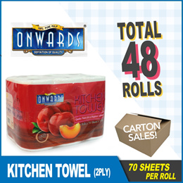 [6 rolls x 8packs] ONWARDS Kitchen Towel