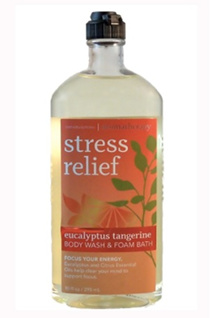 Bath and Body Works Aromatherapy Stress Relief Body Wash  Foam Bath EUCALYPTUS TANGERINE