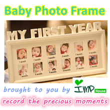 ★IMP HOUSE★[My First Year][Baby Photo Frame] Wooden Photo Frame/1st Birthday gift/Home Deco