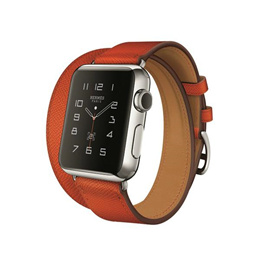 Casefactorie Replacement Double Tour Luxury Leather Strap for Apple Watch Series 3/2/1
