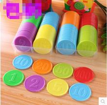 Texas plastic chips coin chip set mahjong game children learn money integral coin reward money order