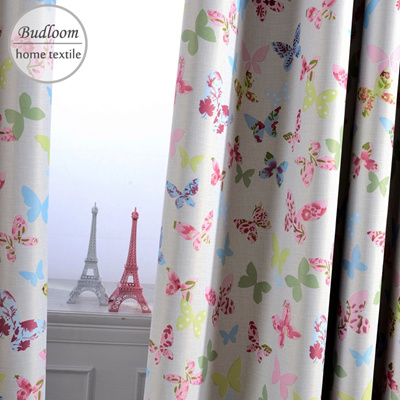 Pink Blue Erfly Blackout Curtains For Children Baby Room Colorful S Windo