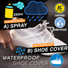 💧Rain Shoe Silicon Cover💧Waterproof Nanocoating Spray💧Durable Anti Slip Sole💧Reusable💧
