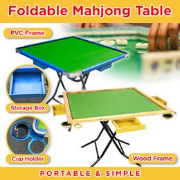 【New Arrival】Foldable PVC Frame Mahjong Table / Premium Wood Frame Mahjong Table