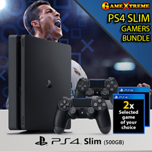 Chinese New Year Bundled SONY PS4 Slim 500GB Bundle. 2 x PS4 Games + 2 x Dual Shocks Controllers. Local Stocks 15 Months Warranty. Limited Sets Promotion