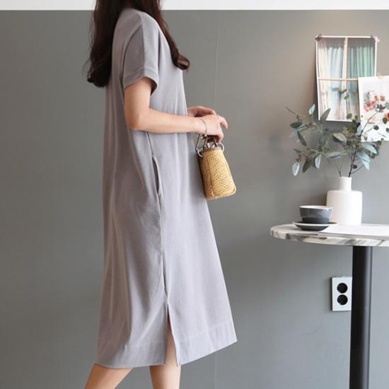 ガールズデイリーとヘンスリットワンピース 綿ワンピース/ 韓国ファッション