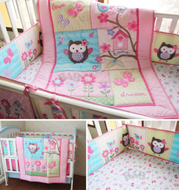 baby cot bedding set / crib bed bumper cot sheet quilt diaper stacker comforter skirting bumpers