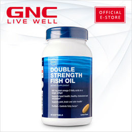 GNC Double Strength Fish Oil 90 softgels [Health/Fish Oil/Supplements/Joints]