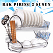 2 Layer Dish Rack / Rak Piring 2 Susun