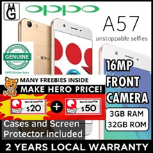 Oppo A57 / Local 2yrs Official Warranty / 3gb ram / 32gb rom / Cases and Screen Protector Included.