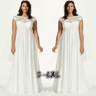 a174b2d09e0e Women Maxi Dress White Lace Elegant Dress Fashion Wedding Dress Plus Size  Only Dress NB0308