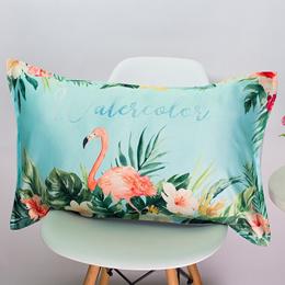 Flamingo Silk Pillowcase 48*74cm Animals Cushion Case Pillow Cover Bedroom Hotel Home Textiles 6 Sty