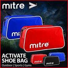 LIMITED [MITRE] Activate Shoe Bag | Outdoor | Sports | Gyms | 600D polyester | Double zipper | 34cm x 14cm x 18cm multi color