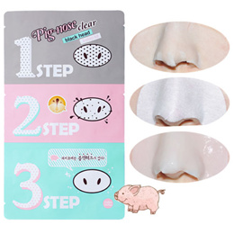 Holika Holika Pig Clear Black Heads 3-step Kits Nose Masks Pores Peels Cleansing Sheets Anti-aging Facial Face Skin Care Collagen