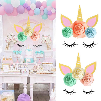1 Pack Birthday Party Paper Backdrop DIY Decoration Unicorn Theme Party  Supplies for Baby Shower Kid