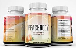 Peachlife Inc Natural/Vegan Peach Flavored Probiotic Vaginal Suppositories - 72 Billion Live CFU - 1