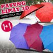 ~~ Beli 1 Gratis 1 ~~ PAYUNG LIPAT MAGIC 3D LIMITED STOCK - Motif Anti UV - Payung Ringan Dan Kecil