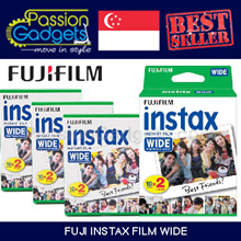 Cheapest Local Seller♥ Fujifilm Instax Wide Film★Wide 300/210 Wide Plain films★ (100pcs)