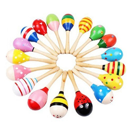 Wooden Maracas Baby Child Musical Instrument Rattle Shaker Party Children Gift Toy