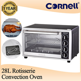 Cornell Convection Oven Counter Table Top Electric Rotisserie Oven 28L (1 Year Warranty) CEO-E2821SL