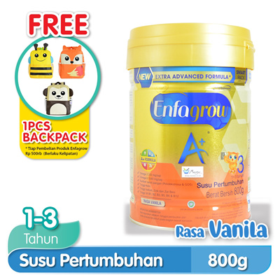 Enfagrow A + Stage 3 Growth Milk 1-3 years Vanilla 800 gr: Rating: 0: 10.500~: 341.000