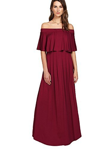 ▷ 1 Shop Coupon◁ Milumia Women s Off The Shoulder Layered Ruffle Party Maxi  Dress 451aa1c18
