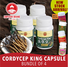 Healthy Life!!Cordycep King Capsule Bundle of 4!!Mix n Match Available!!Shi Hu/Wild Maca/Ginseng