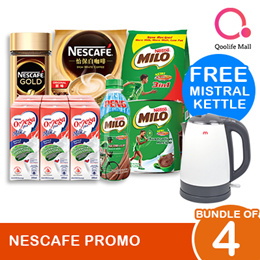 [NESTLÉ] Buy any 4: Bundle of MILO and NESCAFE and get FREE MISTRAL KETTLE WORTH $59