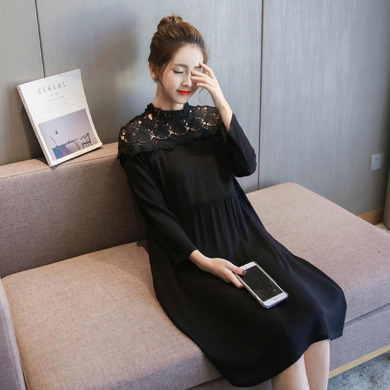 新作 秋 韓国ファッション ワンピース   レディース  長袖  大きいサイズ  ロングスカート 大人気   着痩/  D7072894