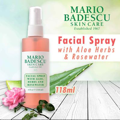 mario badescuMario Badescu Facial Spray With Aloe Herbs Rosewater 🌹- For  All Skin Types 118ml