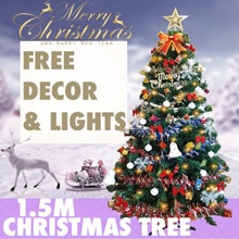 ❆ $9.90 ONLY 17-19 Nov !! FREE FULL SET DECORS AND LIGHTS  ❆ 1.5M Full Set Christmas Tree ❆
