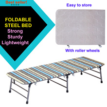 Single Bed / Foldable bed / Foldaway bed / Metal bedframe w mattress *Lightweight* ★Free Shipping★