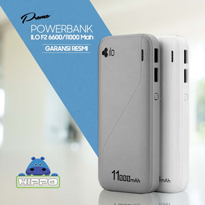 [ PROMO ] Hippo powerbank ILO F2 6600/11000 Mah - Garansi resmi 1 tahun