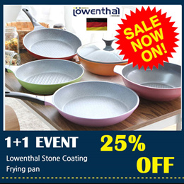 [Lowenthal Official ] ★1+1★ Titanium Stone Frying Pan wok / grill pan pot woks cooking cookware
