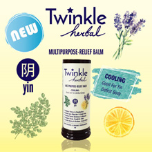 Twinkle Herbal Yin 12gr (Cooling) MULTIPURPOSE-RELIEF BALM  ♥ 100% Natural and Organic Ingredients ♥