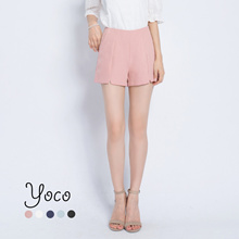 YOCO - Tailored Shorts with Slit Cut-out-171071