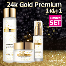 【Secret Key HQ】★24K GOLD LIMITED SET★Premium First Essence 150ml+Cream 50g+Serum 30ml(+Free Samples)