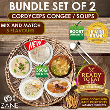 [1+1] ★ Cordyceps Clam Chowder + Cordyceps Congee n Soups [5 Choices Ready-to-Eat]