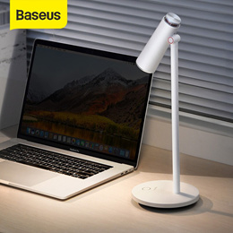 Baseus i-wok Stepless Dimmable Desk Lamp Table Reading light Eye Protection LED Desk Lamp USB Rechar