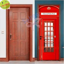 【PVC Self Adhesive Door Sticker】Eco-Friendly Door Wrap★Multi-purpose DIY Sheet for cabinet/wardrobe
