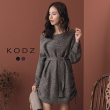 KODZ - Trendy Large Round Collar Color Mixing Knitting-182547-Winter