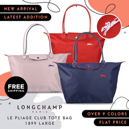 [FREE LONGCHAMP Paper Bag and receipt]  LATEST! SG Local 100% Authentic 2019 Longchamp Le Pliage Club Tote Bag 1899 Large (With Receipt)