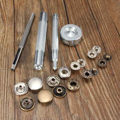 30 Sets 15mm Metal Snap Fasteners Press Studs Kit Sewing DIY Handwork  Leather Craft Tools Metal Snap