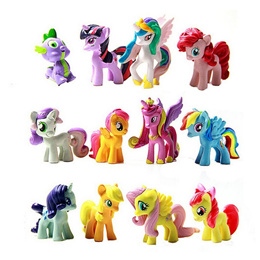 12 Pcs/Set Figurines Playset Doll for My Little Pony Toys Kids Gilrls Gift