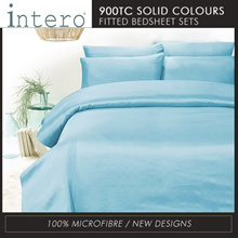 Hillcrest Studio Basic NEW SOLID/ Printed COLOURS 900TC Fitted Bedsheet set