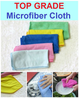 Top Grade Microfiber Cloth / 40cm x 40cm / Industrial Grade / Table Cloth / Cleaning / Kitchen / Car / Outdoor / Bathroom / Face / Hair / Window / Table / Monitor / TV / Pet / Baby / Exercise / Sports